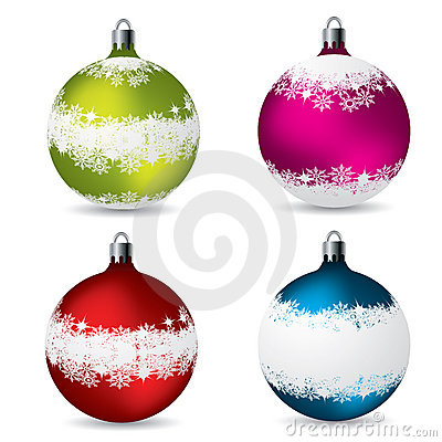 Christmas decorations with snow effect