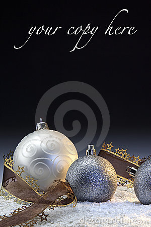 Christmas Decorations with space for copy