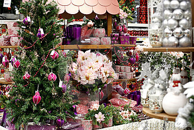 Christmas decorations store