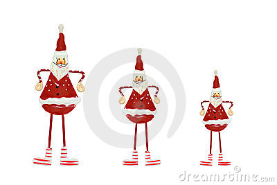 Christmas decorations - three Santas