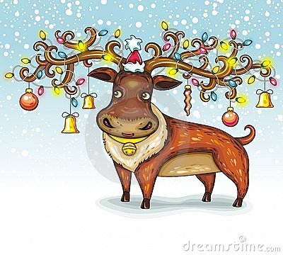 Free Christmas Deer Royalty Free Stock Photo - 21932005