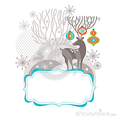Christmas deer, Greeting card