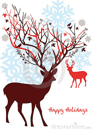 Free Christmas Deer, Vector Royalty Free Stock Images - 11697739