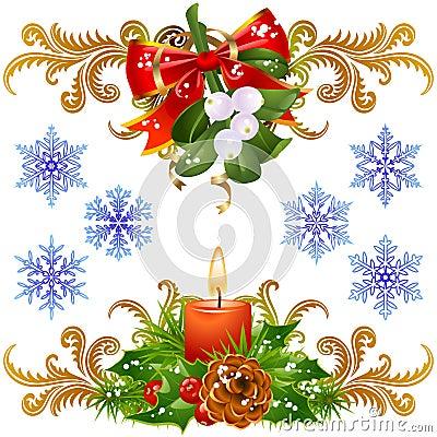 Christmas design elements set 3
