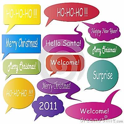 Christmas dialog boxes
