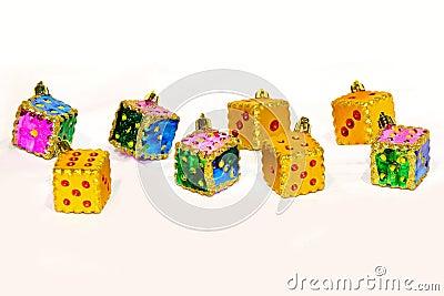 Christmas dice ornaments