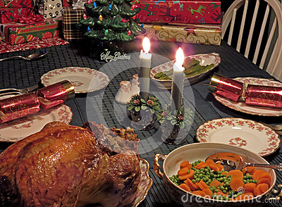 Christmas dinner stock photo image 64496903 Christmas table dressing