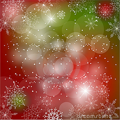 Christmas doodle greeting card design