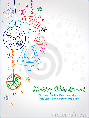 Christmas doodle greeting card, eps10
