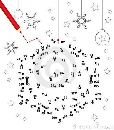 Xmas dot to dot game for kids: Connect all the dots to see the result!