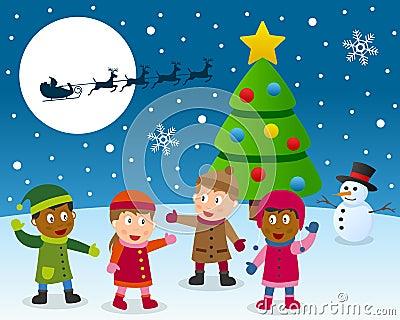 Christmas Dream Vector Illustration