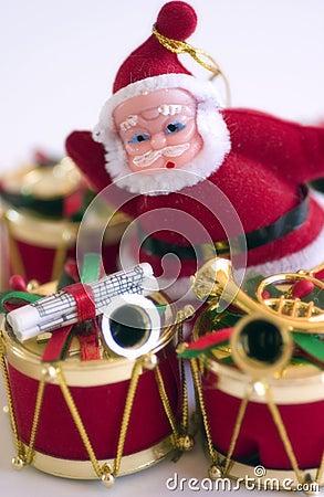 Christmas Drum & Santa