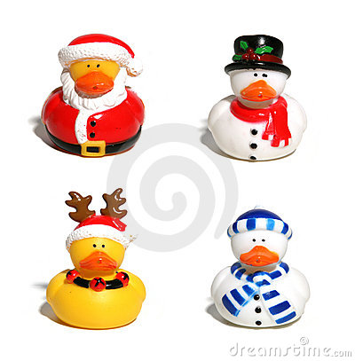 Free Christmas Ducks Royalty Free Stock Photos - 884898