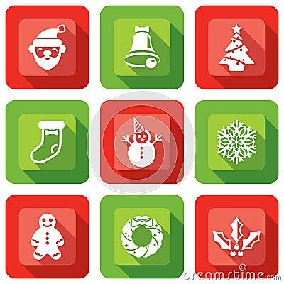 Christmas Element design icon set