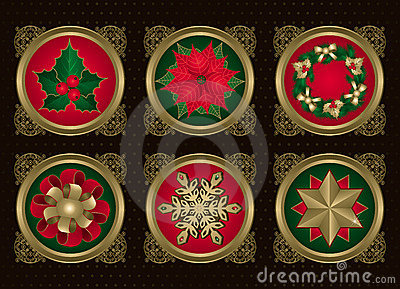 Christmas elements in Gold (set 2)