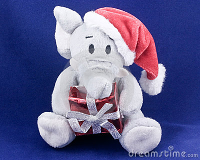 Christmas elephant toy