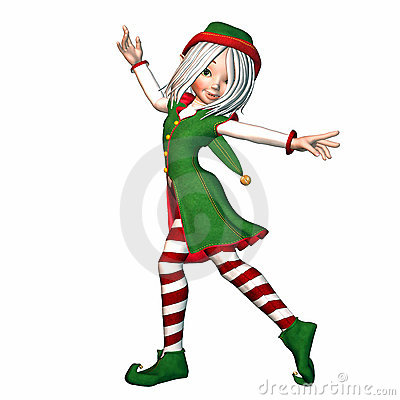 Free Christmas Elf Royalty Free Stock Image - 11043446
