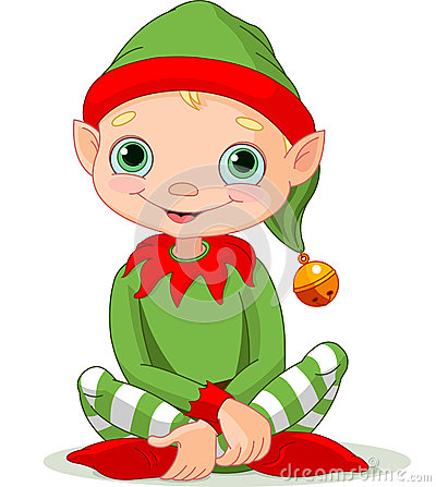 Free Christmas Elf Royalty Free Stock Photos - 35627838