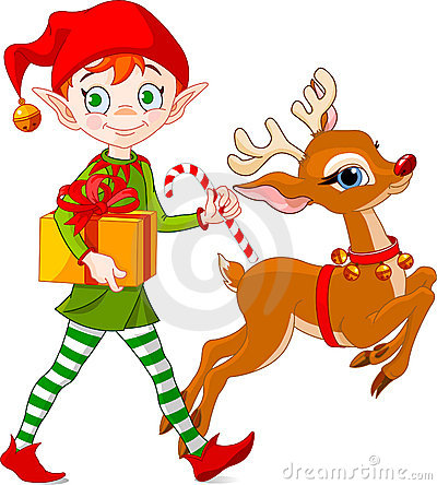 Free Christmas Elf And Rudolph Stock Photos - 11659853