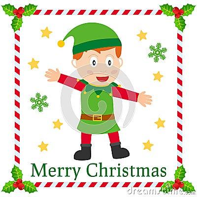 Christmas Elf Greetings Card