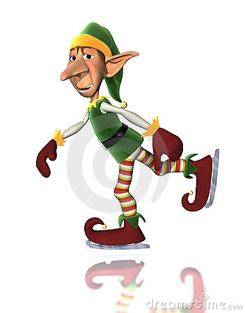 Christmas Elf Ice Skating
