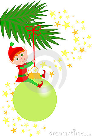 Christmas Elf Ornament/eps