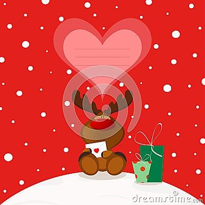 Free Christmas Elk Stock Photo - 26137910