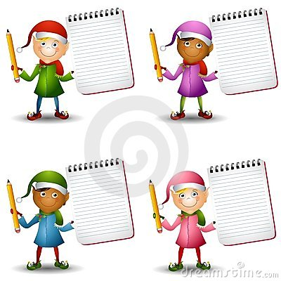 Christmas Elves Notepads