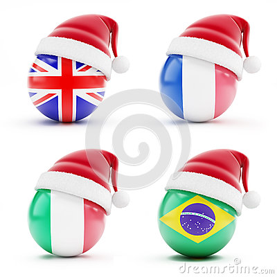 Christmas in England,Italy,Brazil,France