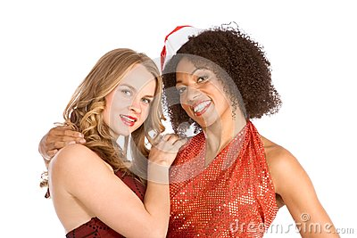 Christmas ethnic Latina Mrs. Santa Claus friend