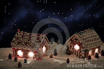 Christmas eve in the honey-cacke village