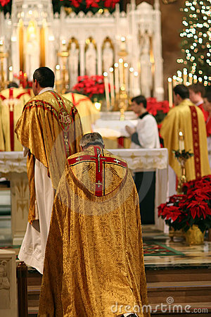 Free Christmas Eve Mass At Church Royalty Free Stock Images - 2411989
