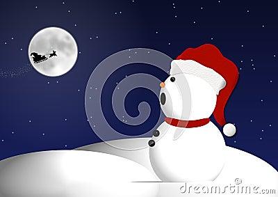 Christmas Eve snowman