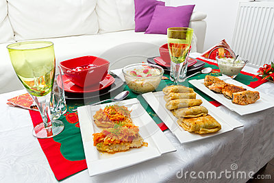 Christmas eve table for two