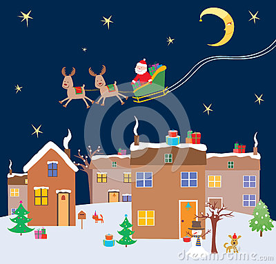 Christmas Eve Stock Vector Image 60099772: gifts for home builders
