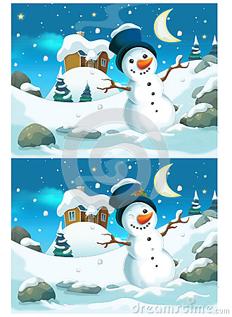 Free Christmas Exercise - Searching Differences Royalty Free Stock Image - 44917556