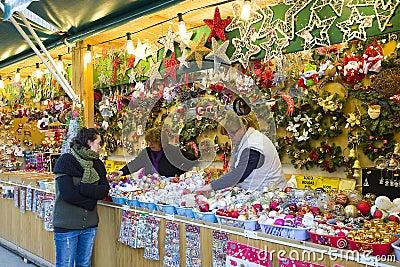 Christmas fair in Barcelona Editorial Image