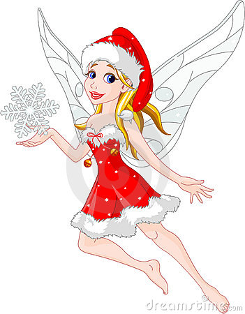 how to draw a christmas fairy