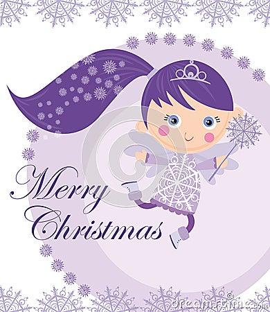 Christmas fairy Stock Photo