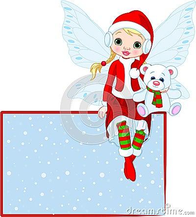 Christmas Fairy place card