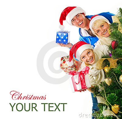 Free Christmas Family Stock Images - 22292464