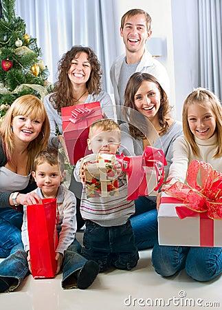 Christmas Family.Celebrate