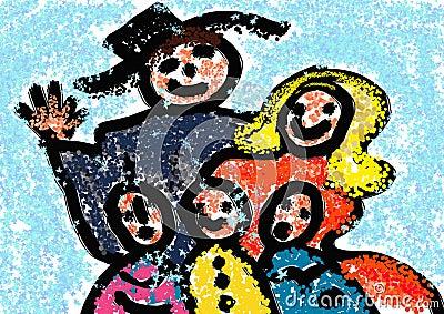 Christmas. Family.Winter