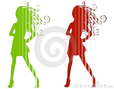 Christmas Fashion Silhouettes Royalty Free Stock Images - Image: 3598419