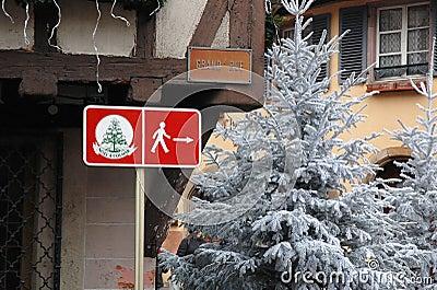 Christmas festival signage