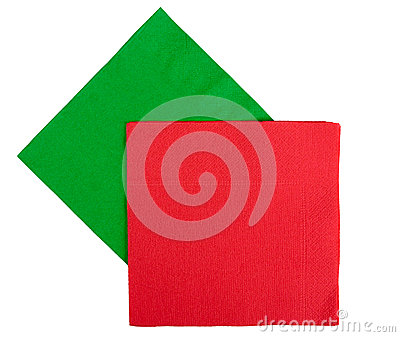 Christmas festive napkins, serviettes - red, green