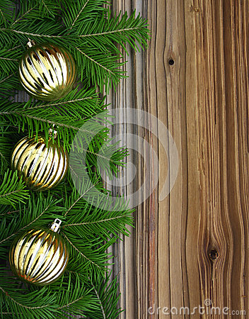 Free Christmas Fir-tree With Baubles On Background Royalty Free Stock Images - 26990729