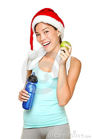 Free Christmas Fitness Woman Royalty Free Stock Photo - 21311625