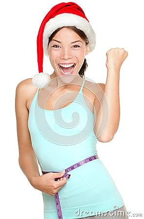 Free Christmas Fitness Woman Stock Photography - 27045992