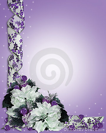 Free Christmas Floral Border Purple Royalty Free Stock Photos - 8683928